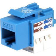 Startech CAT6 RJ45 Keyston Jack - Blue (C6KEY110BL)