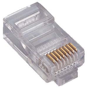 RJ45 CAT6 Modular Plug Connectors - 100 Pack (CAT6RJ45MOD-100)
