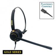 Armor TelPro Gold 3100-P Single-Ear NC Plantronics Compatible Headset ( TPH-3100M-P)