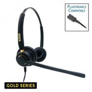 Armor TelPro Gold 3200-B Double-Ear NC Plantronics Compatible Headset (TPH-3200B-P)