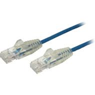 StarTech.com 1 ft CAT6 Cable - Slim CAT6 Patch Cord - Blue - Snagless RJ45 Connectors - Gigabit Ethernet Cable - 28 AWG - LSZH (N6PAT1BLS) N6PAT1BLS