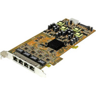 StarTech.com 4 Port Gigabit Power over Ethernet PCIe Network Card - PSE / PoE PCI Express NIC ST4000PEXPSE