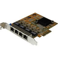 StarTech.com 4-Port PCI Express Gigabit Network Adapter Card - Quad-Port PCIe Gigabit NIC ST1000SPEX43