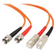 StarTech.com 2m Fiber Optic Cable - Multimode Duplex 62.5/125 - LSZH - ST /SC - OM1 - ST to SC Fiber Patch Cable FIBSTSC2