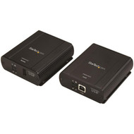 StarTech.com USB 2.0 Extender over Cat5e or Cat6 Ethernet Cable - 330ft/100m USB 2.0 Extender Adapter Kit w/ ESD & Metal Case - Powered USB2001EXT2NA