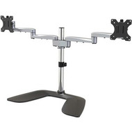 StarTech.com Dual Monitor Stand - Ergonomic Desktop Monitor Stand for up to 32 inch VESA Displays - Free-Standing Adjustable Mount -Silver ARMDUALSS