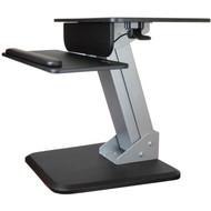 StarTech.com Height Adjustable Standing Desk Converter - Sit Stand Desk with One-finger Adjustment - Ergonomic Desk ARMSTS