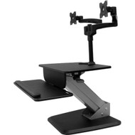StarTech.com Dual Monitor Sit-to-stand Workstation - One-Touch Height Adjustment BNDSTSDUAL