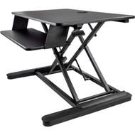 "StarTech.com Sit Stand Desk Converter - Keyboard Tray - Height Adjustable Ergonomic Desktop/Tabletop Standing Desk - Large 35""x21"" Surface ARMSTSLG"