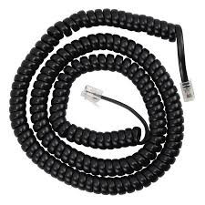 Telephone Curly Cord - 9 Foot - Multi Colors (curly9bk)