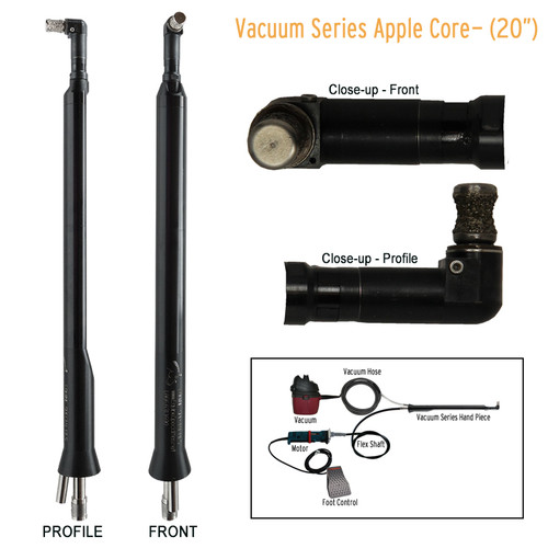 Horse Dentistry Vacuum Series Apple Core Hand Piece
