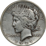 1921 Peace Silver Dollar, VF, $1 Very Fine