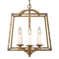Golden Lighting 3072-3P GG Athena 3 Light Pendant in Grecian Gold (Incandescent)