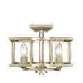 Golden Lighting 7151-SF WG Bellare Convertible Semi Flushmount in White Gold