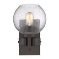 Golden Lighting 4855-1W RBZ-SD Galveston 1 Light Wall Sconce in Rubbed Bronze with Seeded Glass