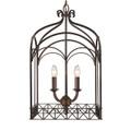 Golden Lighting 5815-4P FB Gateway 4 Light Pendant in Fired Bronze