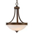 Golden Lighting 1051-3P SBZ-OP Hidalgo Pendant Bowl in Sovereign Bronze finish with Opal Glass