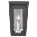 Golden Lighting 4309-WSC BLK-SD Mercer 1 Light Wall Sconce in Black with Seeded Glass