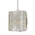 Golden Lighting 5516-3P WG-SHR Zara 3 Light Pendant in White Gold