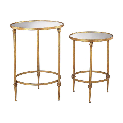 Sterling 351-10236/S2 Alcazar Accent Tables in Antique Gold and Mirror