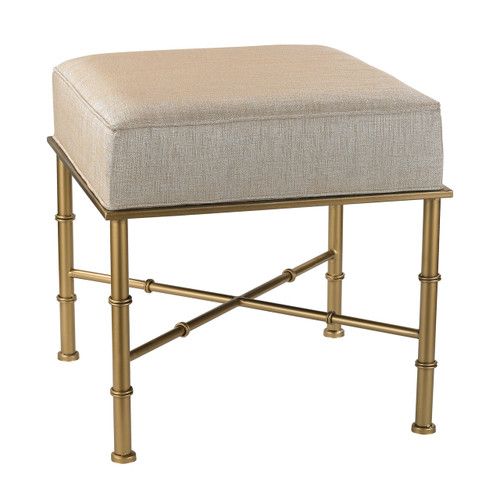 Sterling 180-014 Gold Cane Bench in Cream Metallic