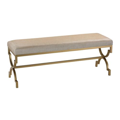 Sterling 180-003 Double Bench in Cream Metallic Linen