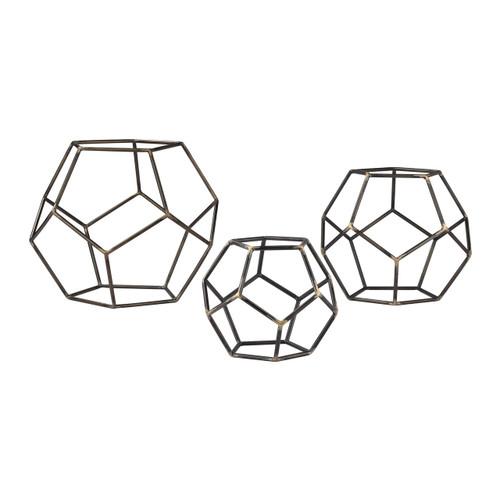 Sterling 138-165/S3 Geometric Orbs (Set of 3)