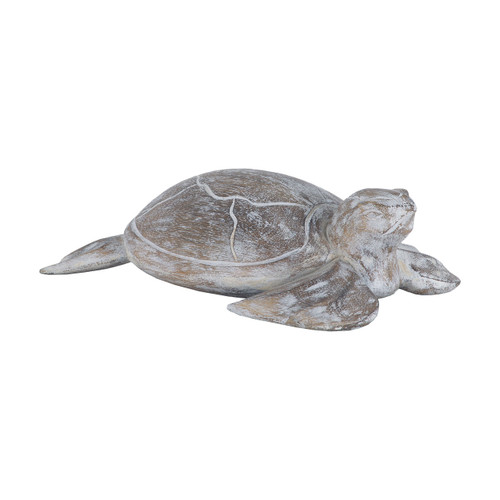 Sterling 7159-045 Galapagos Turtle White Washed Albasia Wood