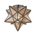 Sterling 1145-004 Moravian Star Flushmount in Bronze