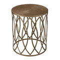 Sterling 138-009 Sutton Accent Table in Gold Leaf