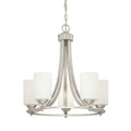 Millennium Lighting 7255-SN Bristo Etched White Chandelier in Satin Nickel