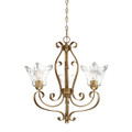 Millennium Lighting 7423-VG Chatsworth Clear Chandelier in Vintage Gold