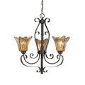 Millennium Lighting 7123-BG Chatsworth Umber Swirl Chandelier in Burnished Gold