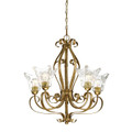 Millennium Lighting 7425-VG Chatsworth Clear Chandelier in Vintage Gold