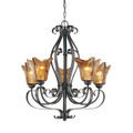 Millennium Lighting 7125-BG Chatsworth Umber Swirl Chandelier in Burnished Gold
