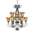 Millennium Lighting 7129-BG Chatsworth Umber Swirl Chandelier in Burnished Gold