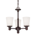 Millennium Lighting 2153-RBZ Cimmaron Etched White Chandelier in Rubbed Bronze