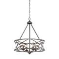Millennium Lighting 2174-AS Lakewood Chandelier in Antique Silver