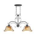 Millennium Lighting 7222-BG Chatsworth Umber Swirl Island Light in Burnished Gold