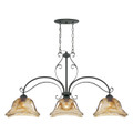 Millennium Lighting 7223-BG Chatsworth Umber Swirl Island Light in Burnished Gold