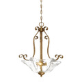 Millennium Lighting 7443-VG Chatsworth Clear Pendant in Vintage Gold