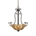 Millennium Lighting 7143-BG Chatsworth Umber Swirl Pendant in Burnished Gold