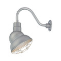 Millennium Lighting RES10-GA R Series Warehouse Emblem Shade Light in Galvanized
