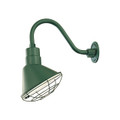 Millennium Lighting RAS10-SG R Series Angle Warehouse Shade Light in Satin Green