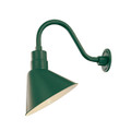 Millennium Lighting RAS12-SG R Series Angle Warehouse Shade Light in Satin Green