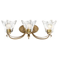 Millennium Lighting 7453-VG Chatsworth Clear Vanity Light in Vintage Gold