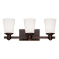 Millennium Lighting 2163-RBZ Cimmaron Etched White Vanity Light in Rubbed Bronze