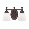 Millennium Lighting 622-RBZ Etched White Vanity Light in Rubbed Bronze