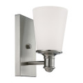 Millennium Lighting 2161-SN Cimmaron Etched White Wall Sconce in Satin Nickel