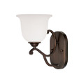 Millennium Lighting 1551-RBZ Courtney Lakes Turinian Scavo Wall Sconce in Rubbed Bronze